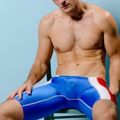 Gay Spandex Lycra Jammer shorts photos