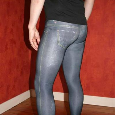 Gay Spandex Lycra Jeans Tights photos